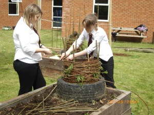 Eco team members from Haygrove School Bridgwater