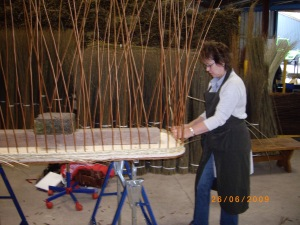 Weave a willow coffin course, the beginning!